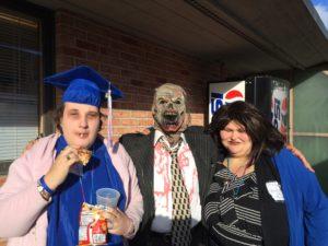 Photo of individuals at Halloween