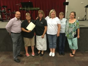 Photo of CVA employees Terry, Connie, Connie, Beth, Val, Angie