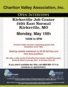 Open Interviews Flyer