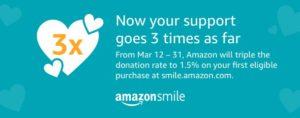Amazon Smile donation button