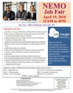 nemo job fair april 2018