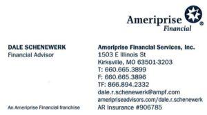 Dale Schenewerk Business Card