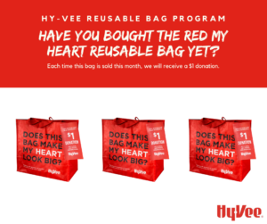 Image of Hyvee bag donation